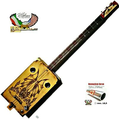 Fire Dragon Cigar Box Guitar 3T-P by Robert Matteacci Italia
