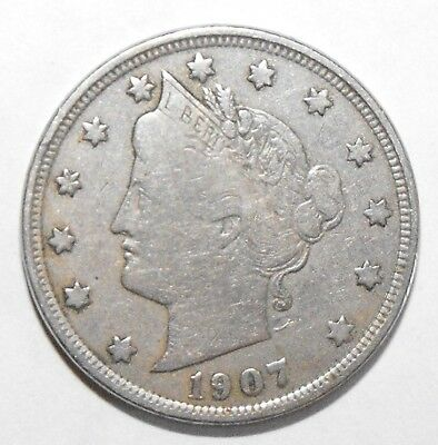 1907 Liberty Head Nickel, Circulated and ungraded