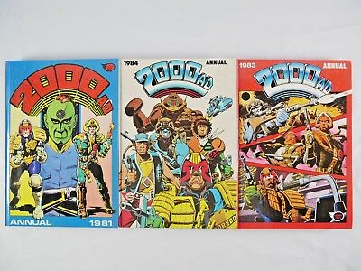 Vintage Uk Hb Book - 2000Ad Annual 1981 83 84 Judge Dredd, Ro-Busters, Rogue