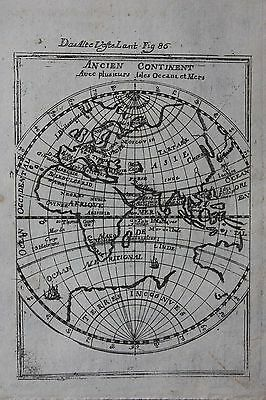 Original antique map WORLD, E. HEMISPHERE, EUROPE, ASIA, AFRICA,  Mallet c.1686