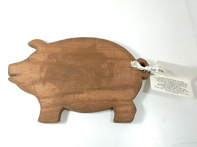 """13"""" Long  Susan Branch Pig Cutting Board  with recipe rustic style"""