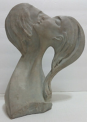 Vtg 1980 David Fisher FACES OF LOVE Sculpture Austin Productions Art Deco Statue