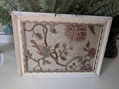 Antique Georgian Hand Embroidered Silkwork Picture