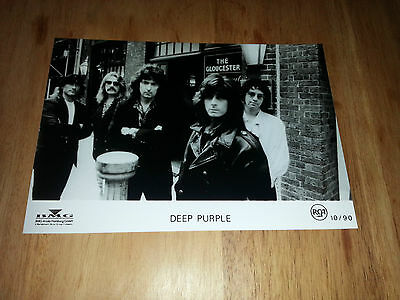 Deep Purple - Promo Press Photo 1990 - Jon Lord - Ritchie Blackmore Roger Glover