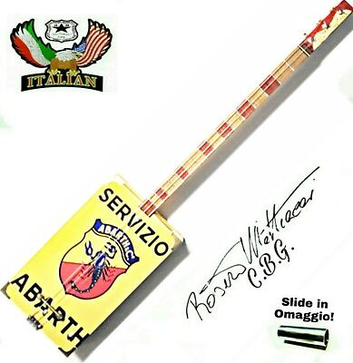 Servizio Abarth Cigar Box Guitar 3TP by Robert Matteacci Italia