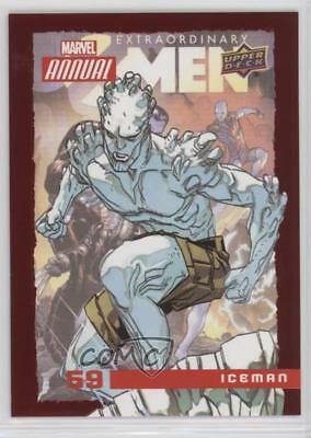2016 Upper Deck Marvel Annual Red #59 Iceman Non-Sports Card 5x5
