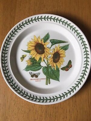 "PORTMEIRION BOTANIC GARDEN DINNER PLATE 10.5"" (26.5 cm) WIDE NEW SUNFLOWER"