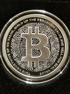 Bitcoin 1 oz .999 Silver Shield Proof BTC Crypto Series blockchain only 756 made