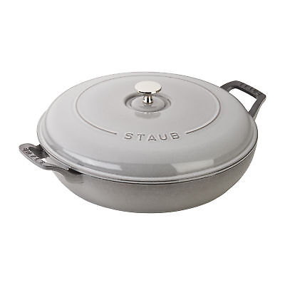 Staub Cast Iron 3.5-qt Braiser - Visual Imperfections - Graphite Grey