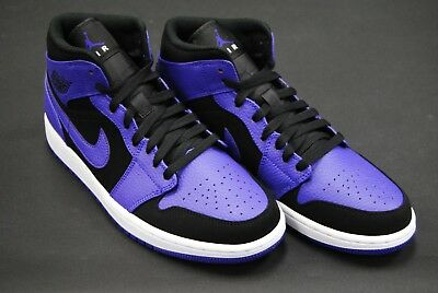 13aa94c3d9550b  554724 051  New Men s Air Jordan 1 Mid Black Dark Concord White Jo1405