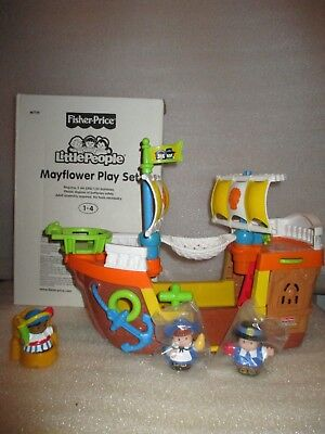 NEW Fisher Price Little People Kids THanksgiving Mayflower Ship Boat Playset