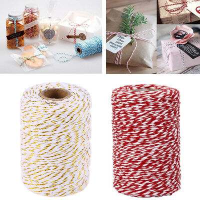 100m Cotton Bakers Twine Rope String Cord for Wedding Christmas Gifts Wrapping