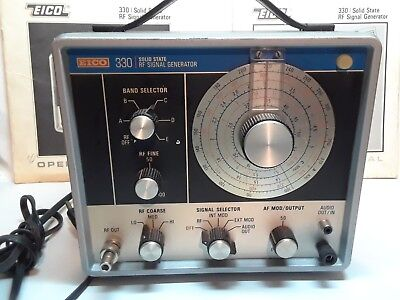 EICO 330 Solid State RF Signal Generator With both original Manuals