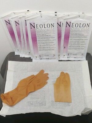 Non Latex Neolon Surgical Gloves  Size  7 10 Pairs Latex Free Neoprene