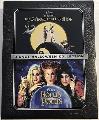 Disney Halloween Collection Nightmare Before Christmas & Hocus Pocus Bluray Slip