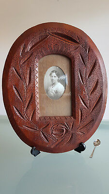 ANTIQUE PICTURE FRAME, EARLY AUSTRALIAN, CARVED, SOLID TIMBER. 46cm X 36cm.