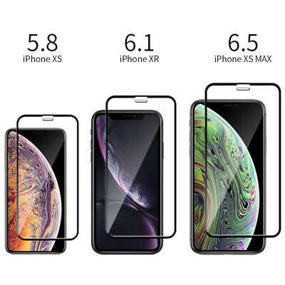 Screen Protector For iPhone XS Max XR X 6D Curved Full Cover Tempered Glass
