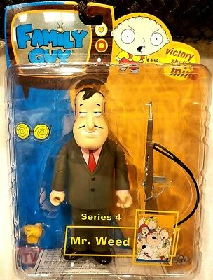 Family Guy Mr Weed Action Figure Pink Shirt Variant MIB Mezco RARE Toy Series 4