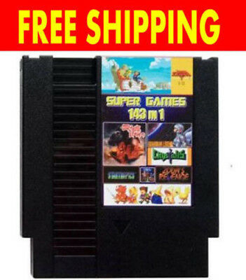 143 in 1 Classic NES Nintendo Multi Cartridge Zelda Contra Super Mario TMNT NEW