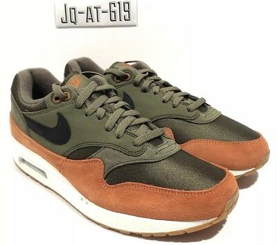 c5f076f03b NIKE AIR MAX 1 Size 11 Ah8145 301 Olive Canvas/Black-Dark Russet ...