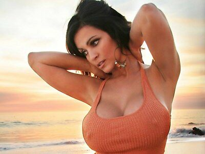Denise Milani With Hands Behind Neck 8x10 Quality Photo Print