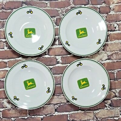 4 John Deere Licensed by Gibson USA, China  Salad,Soup, Dessert Plates