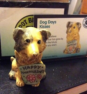 NIB! Harmony Kingdom Ball POT BELLY KISSES DOG 🐶 Happy Anniversary Gift Box