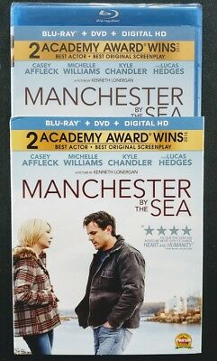 Manchester by the Sea Blu-ray/DVD, 2-Disc Set✔☆MINT☆✔ NO DIGITAL✔☆SLIPCOVER