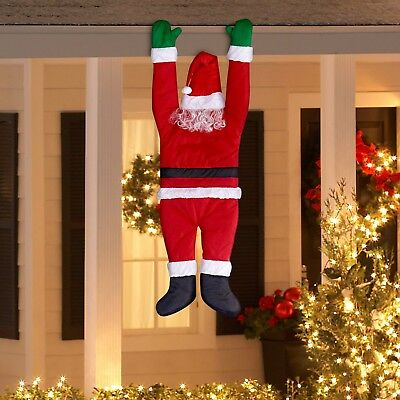 Holiday Time Christmas Decor Hanging Santa by Gemmy Industries Cute