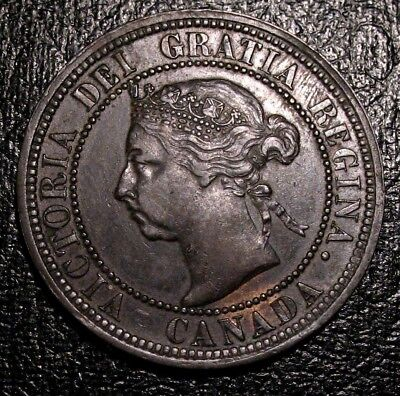Old Canadian Coins 1890 H Copper Canadian Large Cent Beauty Luster
