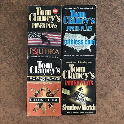 4 Tom Clancy's Power Plays Novels Lot Set - Good condition