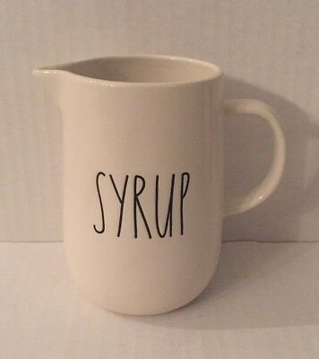 """Authentic Rae Dunn BNWOT LL """"SYRUP"""" Pitcher HTF RARE"""