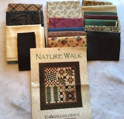 Nature Walk Quilt Kit THIMBLEBERRIES Pattern Cotton Fabrics Included