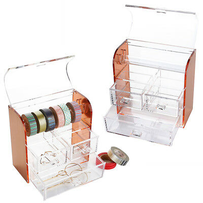 Durable Rose Gold Washi Tape Box Washi Tape Set Tools Stationary Storage Box