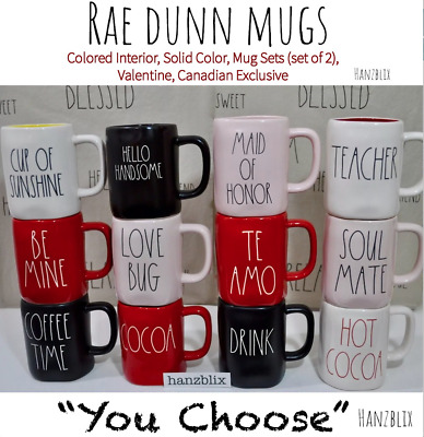 "RAE DUNN ""YOU CHOOSE"" Mugs Christmas Halloween Valentine's Spring Canada NEW '19"