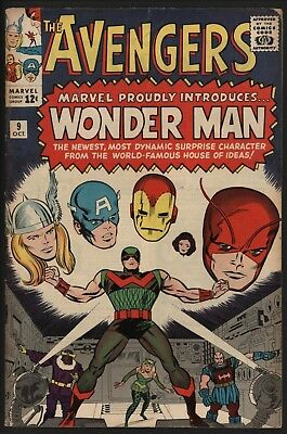 AVENGERS#9 1st WONDER MAN! SCARCE IN THE UK. CENTS COPY GLOSSY NICE PAGES