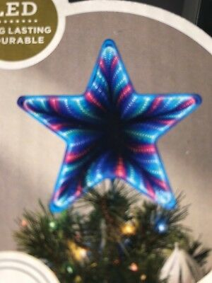 Color Changing LED Lit Tree Topper multi-function safe Mirror Christmas star