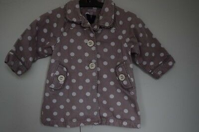 Outerwear Nice Monsoon Baby Girl 12-18 Months 100%wool Light Jacket Perfect Condition