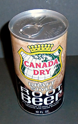 Cool Rare 1970's Canada Dry Root Beer Vintage Soda Pop Can