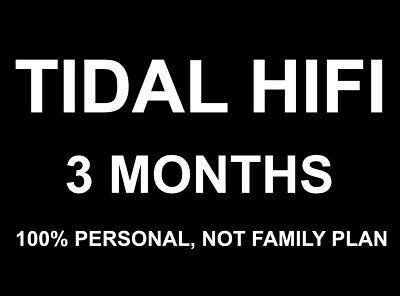 [Limited Time Offer, Trusted Seller]TIDAL Hi-Fi for 36 Months(3 Years)