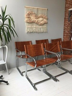 VINTAGE MIDCENTURY/1970s 5 CANTILEVER CHAIRS BY KIDDE