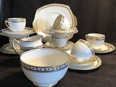 Vintage Royal Albert Crown China 21 piece English Bone China Tea Set
