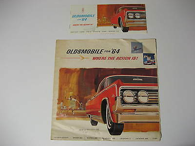 1964 Oldsmobile Brochures....Lot of Two