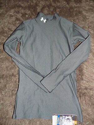 80036fe8aa60 UNDER ARMOUR Boys Youth Large Black Compress Cold Gear Long Sleeve Shirt  NEW NWT
