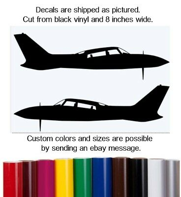 Cessna 310R - Aviation Silhouette Vinyl Decal #483