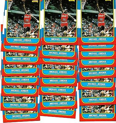 "1986-87 Fleer Rookie Reprint "" #57 Michael Jordan ""LOT OF 25 CARDS"" RC Bulls"