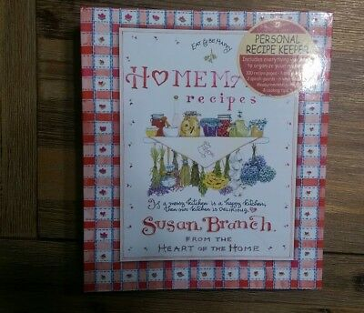 Susan Branch Recipe Binder (2010, Poster) homemade recipes the heart of the home
