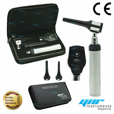 Ynr England Vetscope Led Otoscope Ophtalmoscope Ent Set Vétérinaire Diagnostic