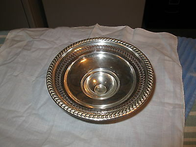 Vintage Collectible Sterling Silver-La Pierre-Pedestal Dish-Weighted Reinforced