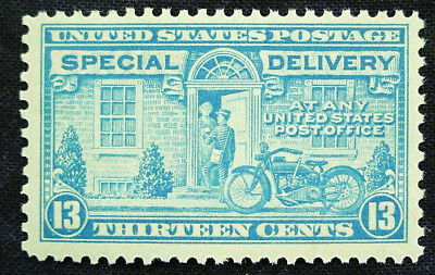 US, Back of Book, 1944 Special Delivery, Motorcycle Delivery, Scott E17, MNH